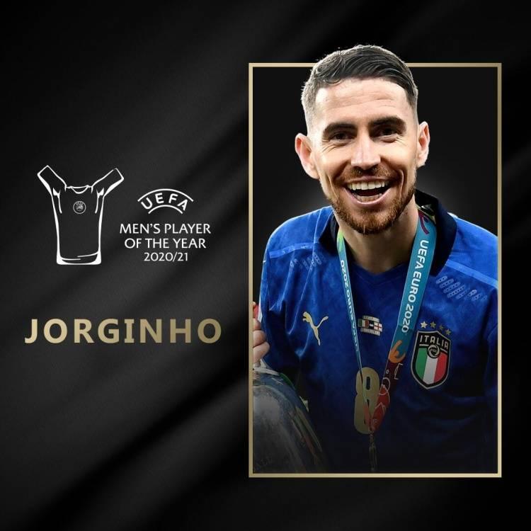 官方:若日尼奥获欧足联最佳球员 连夺欧冠欧洲杯