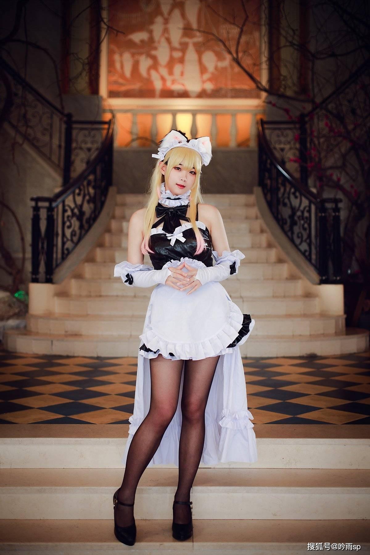 失落的方舟(LostArk)-妮娜芙(女仆版)cosplay,黑丝yyds!_玩家