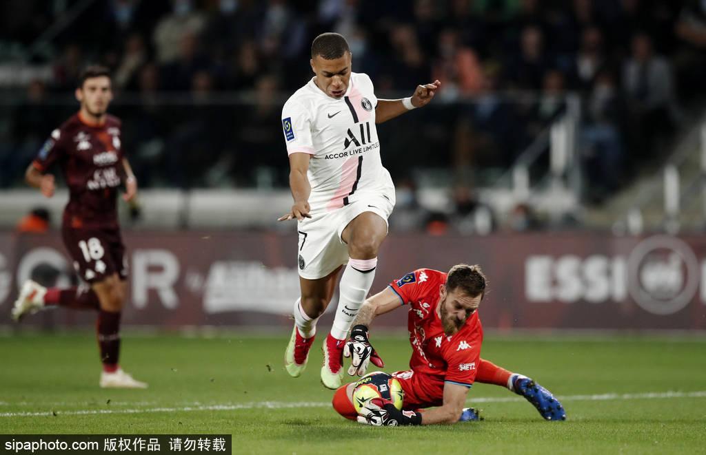 法甲-梅西缺席阿什拉夫双响+绝杀 巴黎2-1垫底队