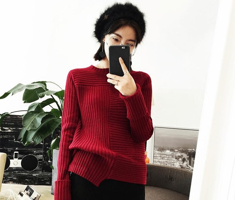 酒红色秋装,时髦优雅又显白