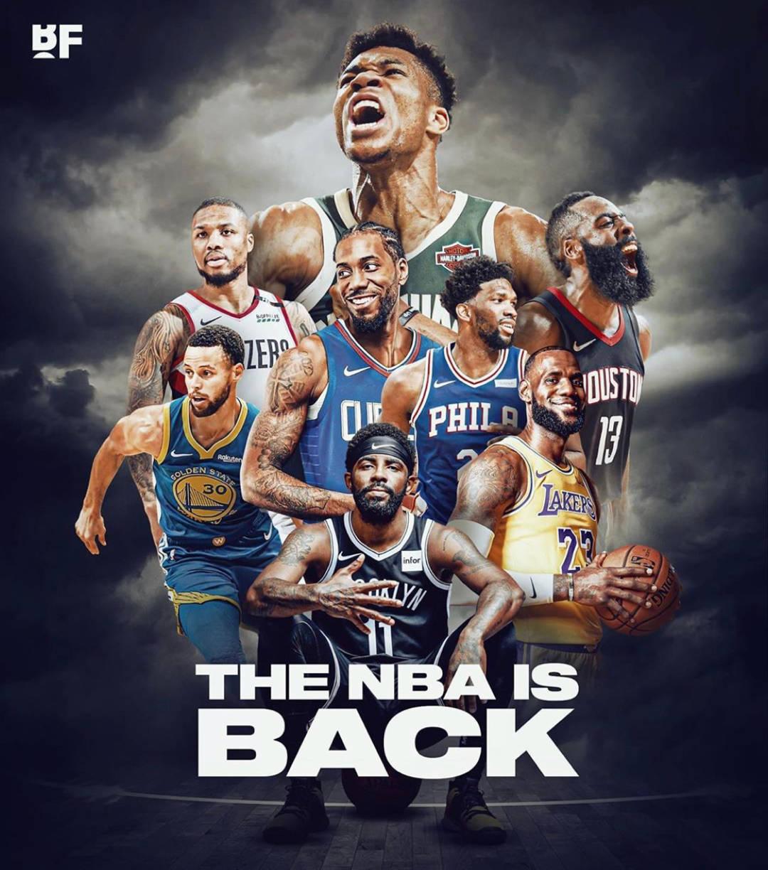 NBA8月1日复赛:22支球队参加,集体前往奥兰多