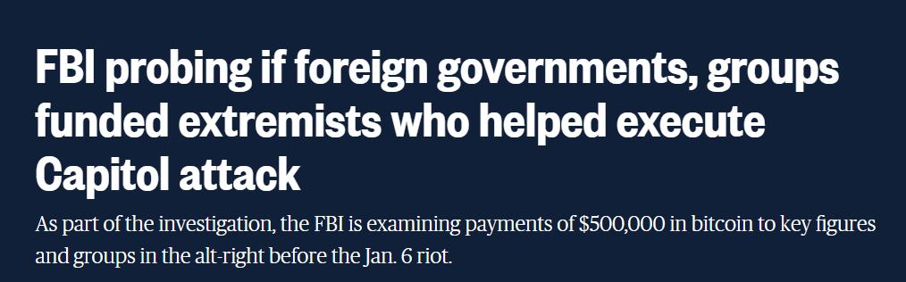 一名法国人去年向极端分子转账50万美元比特币后自杀,FBI追查