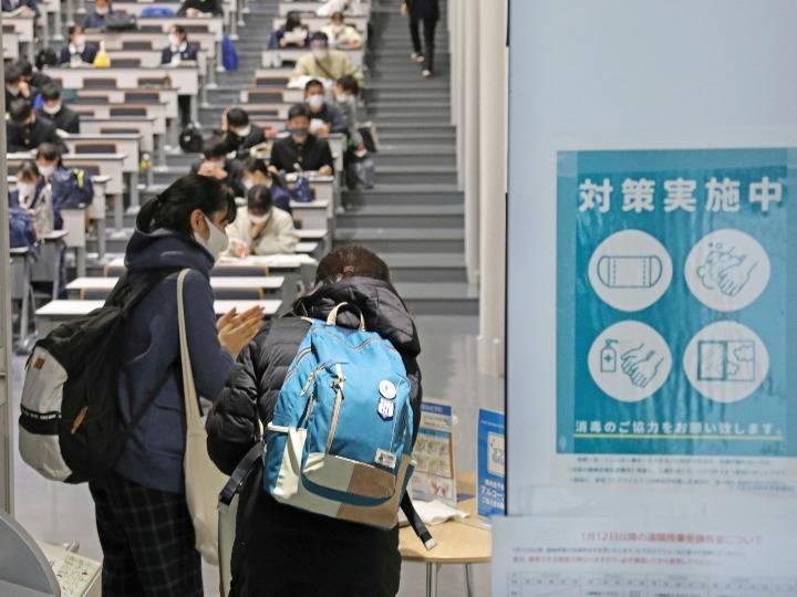 疫情之下 日本高考考生须戴口罩应试