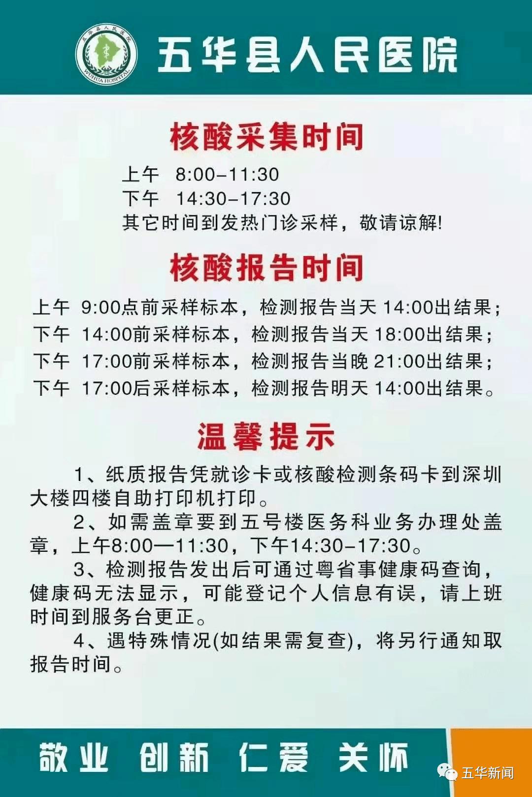 快看!五华县人民医院核酸检测点时间、报告等,请看这