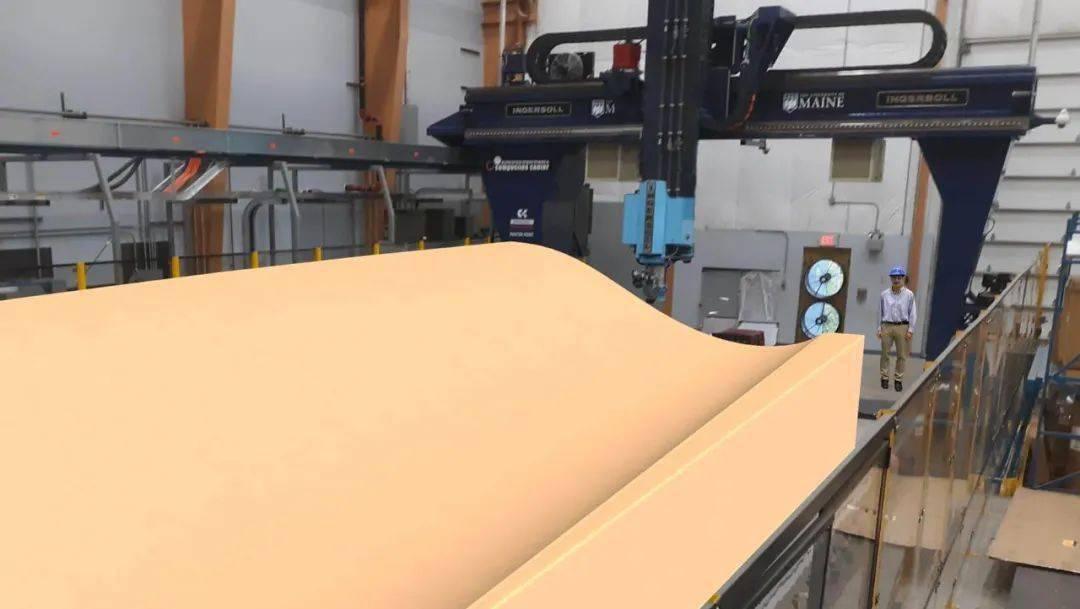 缅因州州立大学启动了大型扇形叶片模具添加剂制造技术的研发