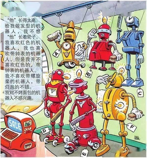 【智力题1852期】该选哪一个机器人呢?