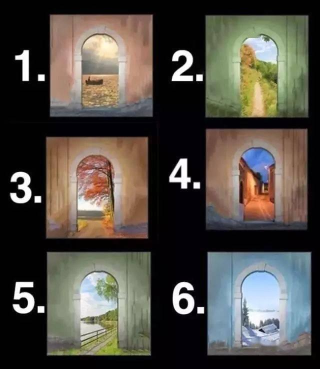 图中6扇门,哪个最吸引你?说的太准了!