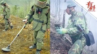 直击陆军某扫雷排爆大队中缅边境排爆