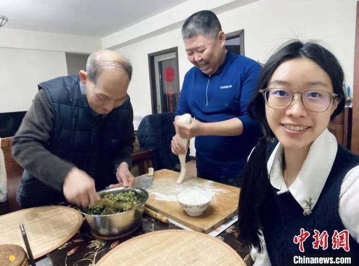 首次在大陆过春节的台湾学生荣圣安:因亲人陪伴而倍感温暖