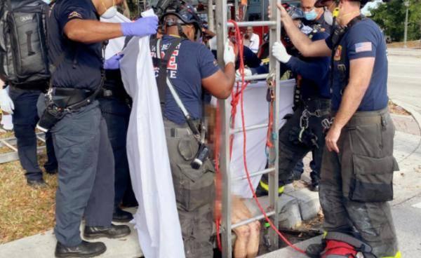美国一裸身女子从下水道被救出 此前已失踪数周                                   图2