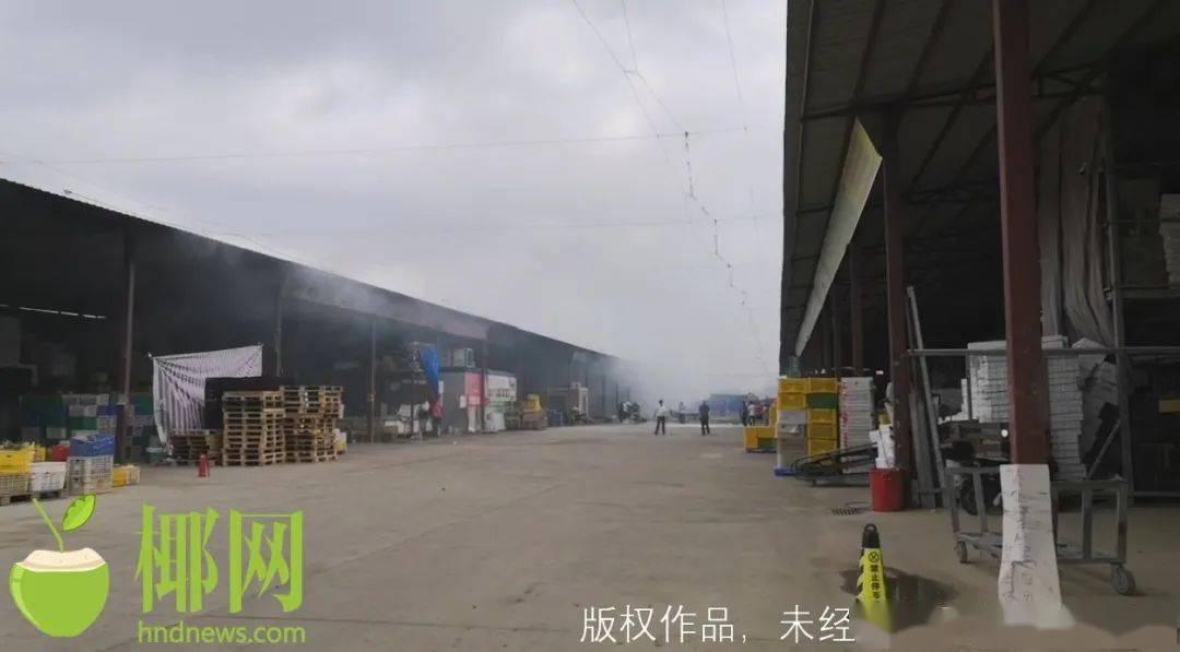 【视频】突发!椰海综合批发市场起火,现场浓烟滚滚……