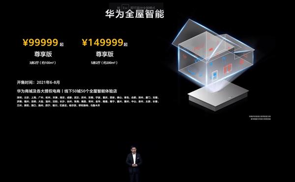 华为全屋智能价格公布:100平尊享版99999元、200平15万的照片 - 2