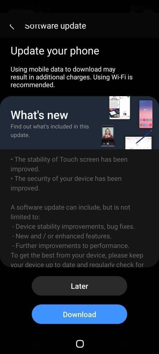 三星 Galaxy S20 FE 5G 发布 4 月安全补丁更新,旨在修复抖动、触控失效等问题