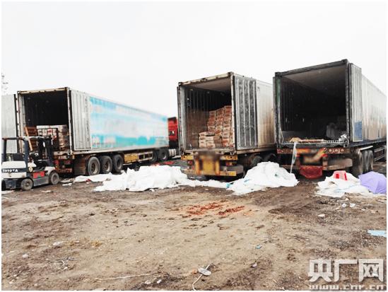 走私冻肉82吨 多位货车司机被拘