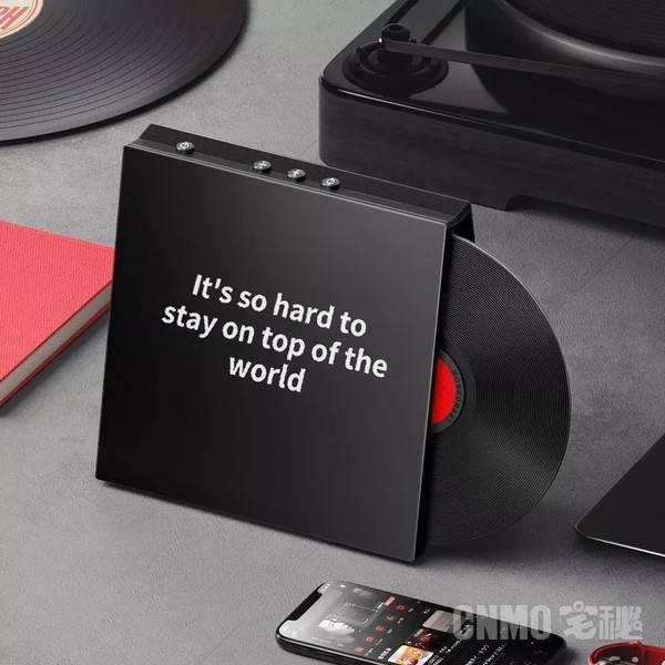 小米有品上架桌面蓝牙歌词音箱M1 黑胶唱片创意外观