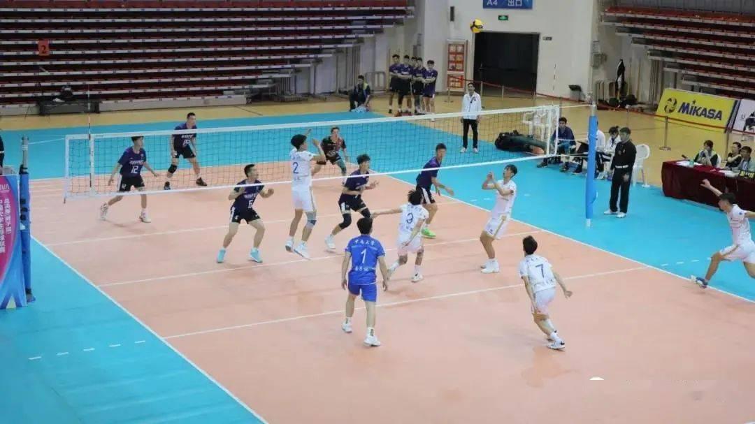 中国大学生排球联赛总决赛男子组鸣哨,海南两队首轮告负