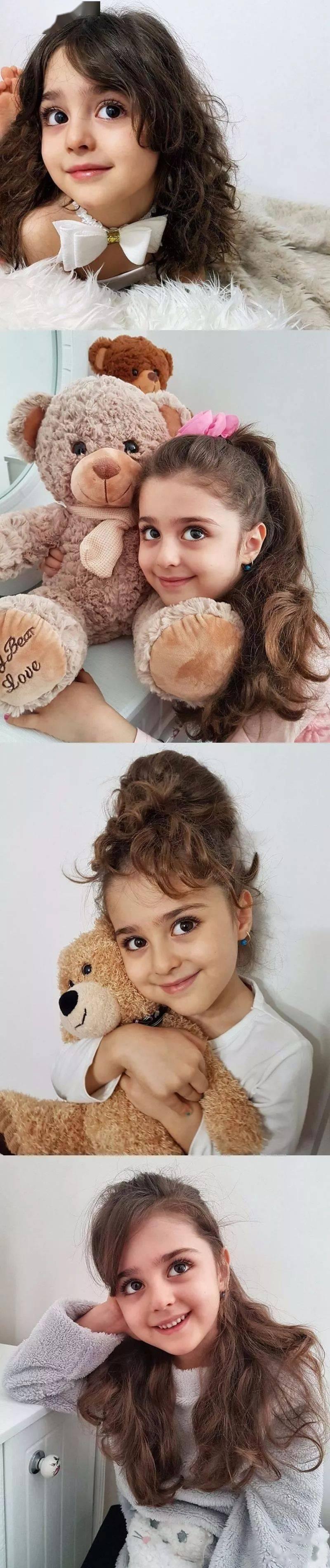 """伊朗10岁""""全球最美女孩""""因太美,父亲辞职做贴身保镖,网友:这就是洋娃娃本人吧?!"""