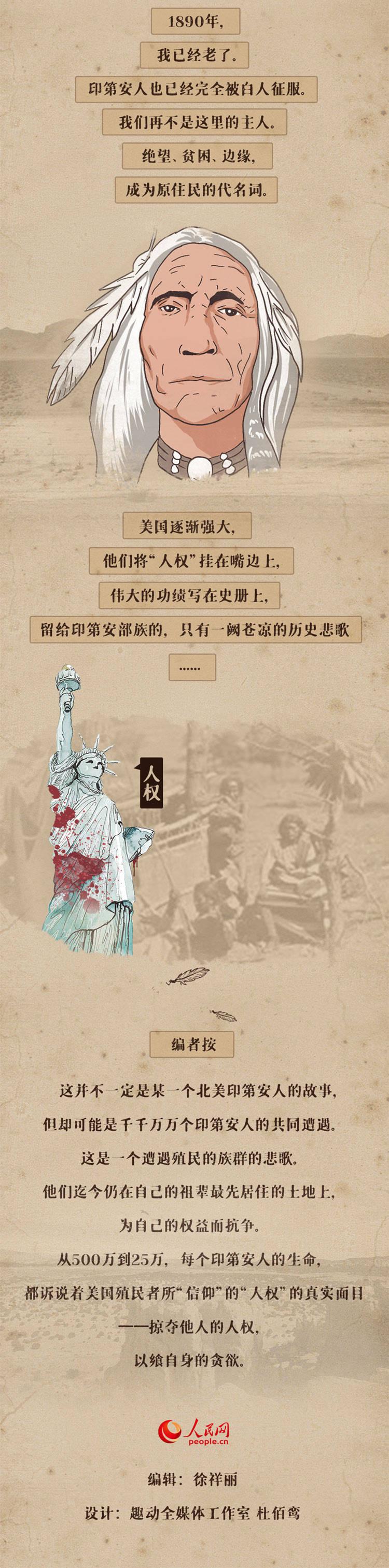 圖說美華人權劣跡之一: 一個19世紀印第安人的一生