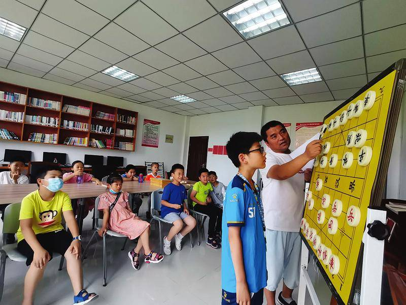 淝河镇暑期公益课堂欢乐开课