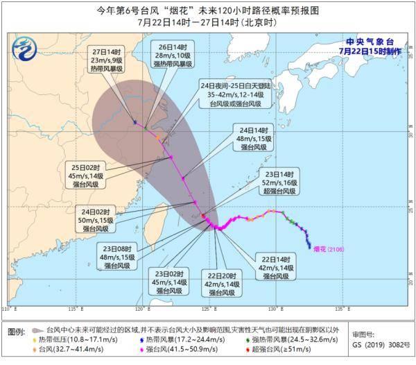 """明起,杭州将出现连续性大到暴雨!""""烟花""""或成史上7月登陆浙江最强台风!"""