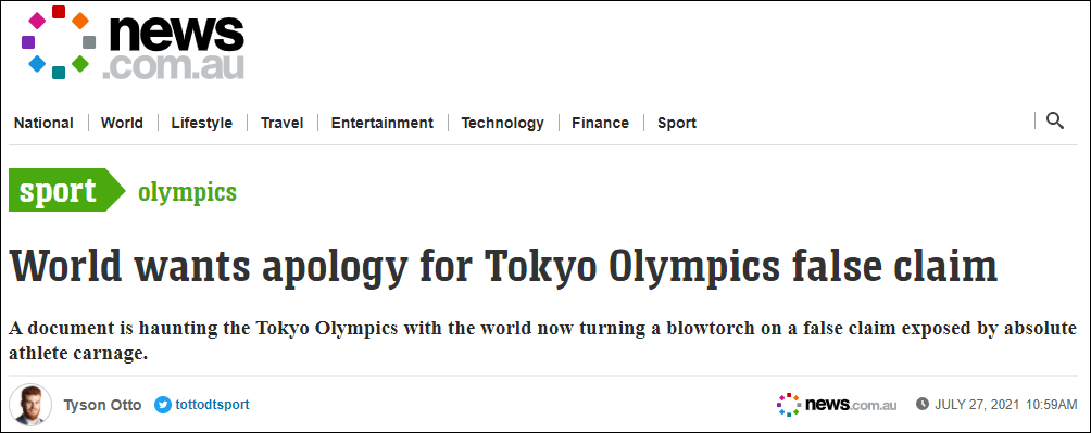 """澳媒:东京在申办奥运会时就天气状况撒谎,高温高湿天气犹如""""屠杀运动员"""""""