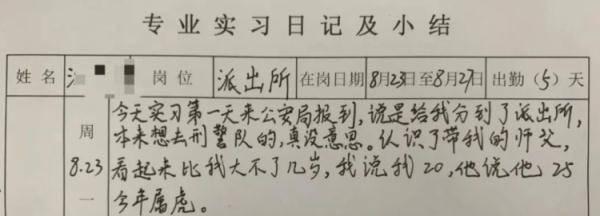 """""""师父说他25今年属虎!""""这份实习<strong>日记</strong>火了"""