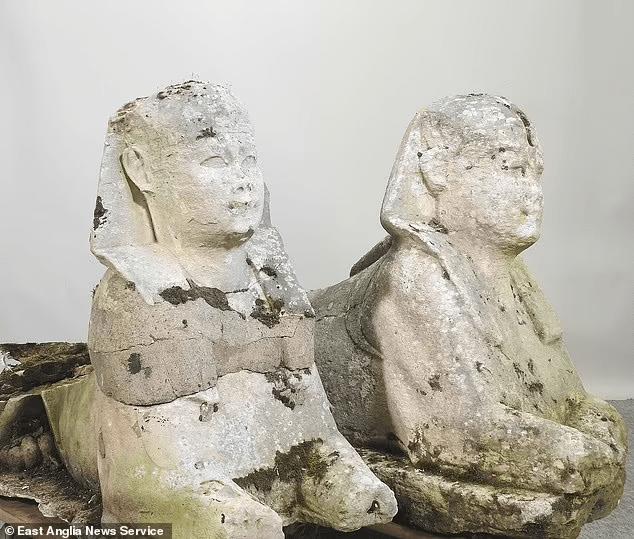 恒宏首页装饰花园两石狮竟是5000年埃及文物,喜拍19.5万英镑
